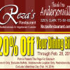 Reza's Discount So Popular They Are Extending It Through February