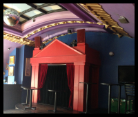 Picture of skylight and stage in Hamburger Marys