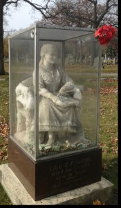 picture of Lulu Fellow's haunted grave Rosehill Cemetary, Chicago IL