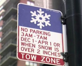 Beware Of Tow Trucks, Chicago Overnight Parking Ban Is In Effect