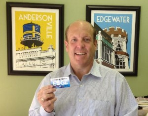 Ald. Osterman Shows His Flex Pass